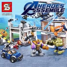 699 pzs - AVENGERS LEGO MARVEL  - THANOS, HULK, legos