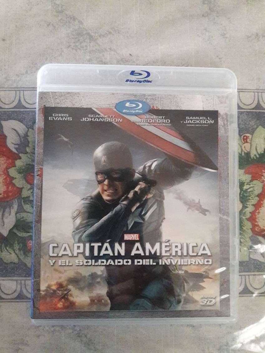Capitan America Y El Soldado Del Invierno 3D Blu-ray Original 0