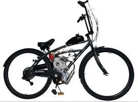 Bicicleta con motor a gasolina