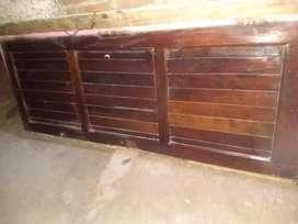 Vendo puerta hoja de algarrobo y marco de chapa