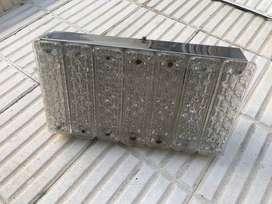 Plafón rectangular de vidrio