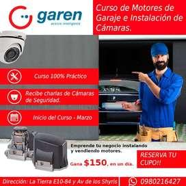 Curso de Motores para Garaje e Instalación de Cámaras de Seguridad - 100% Práctico - Reserva tu Cupo - Inicios Marzo