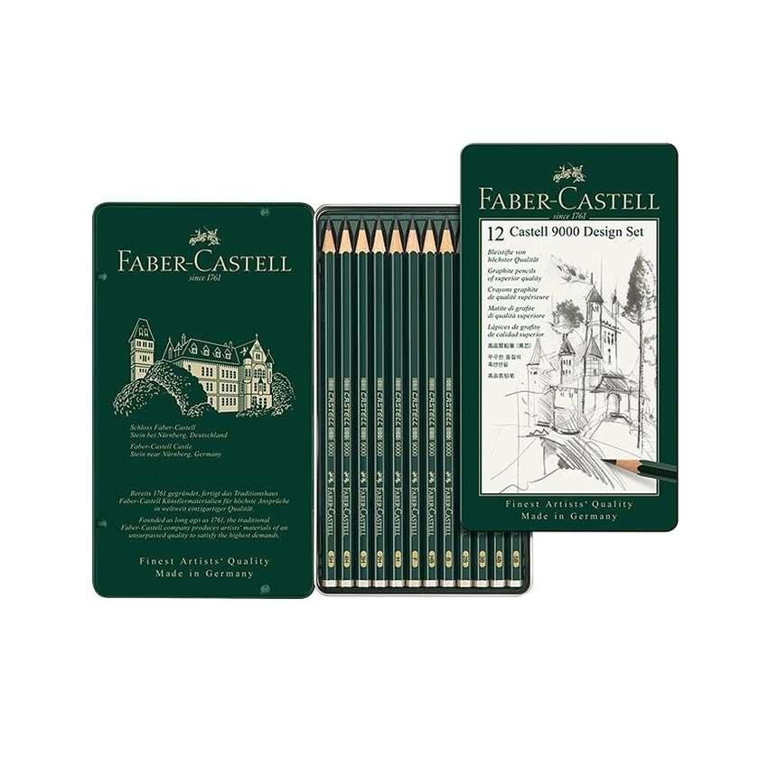 12 Lápices Faber Castell 9000 Dureza 5B 5H Profesional