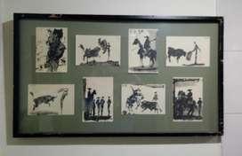 Pintura / Gouache 8 paneles enmarcados 75 x 41.5 cm  340.000