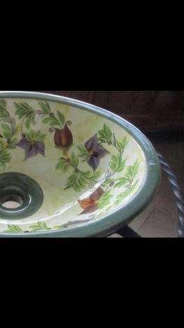 Espectaculares Lavamanos Pintados A Mano Artesanías Colombianas Divinos