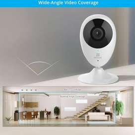 Cámara de seguridad de vigilancia Ezviz Mini O 720p HD para el hogar, con WiFi