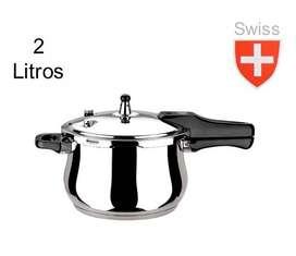 Olla a Presión de 2 Litros Swiss Home Acero Inoxid1able 18/10 ENVIO GRATIS