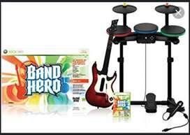 Batería, guitarra, bajo, micrófono para Xbox
