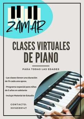 CLASES VIRTUALES DE PIANO