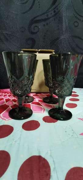 Copas negras cristar set 4 nuevas