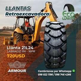 Llantas para retroexcavadora ARMOUR 21 L24 - Labrado R4