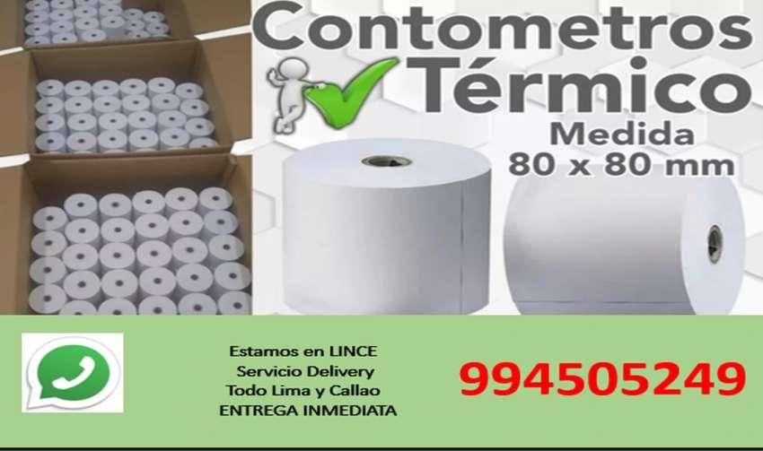 CONTÓMETROS ROLLO DE PAPEL TÉRMICOS 80mm x 80mm 0