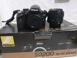 Nikon D3200 +lente 50mm