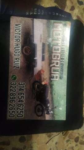 Moto grua, para motos y transportamos electrodomésticos, etc