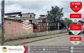 Terreno esquinero de venta cerca al anillo vial Abraham Calazacón