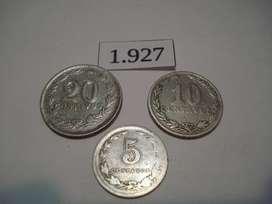 monedas Antiguas de Arg. (x3)..Excelentes!
