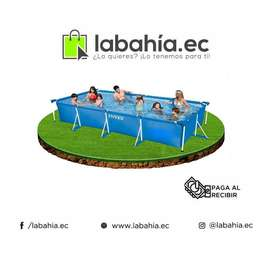 Piscina Armable Intex Rectangular 450cm X 220cm X 84cm