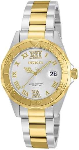 Reloj Invicta mujer doble tono con cristales dorado oro plateado. Relojes originales Fossil Guess MK Tommy regalo ideal
