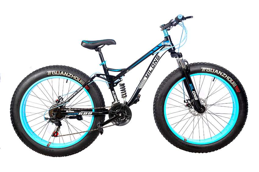 Bicicleta Fatbike Rin 26 Pulgadas Doble Suspensión 0