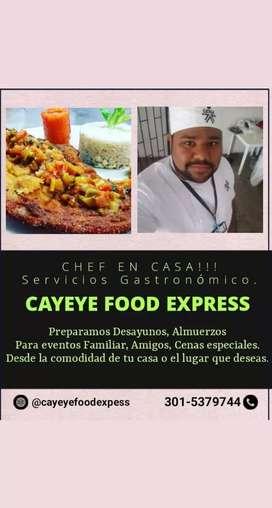Servicios Gastronómico a Domicilio (Chef a tu Casa)