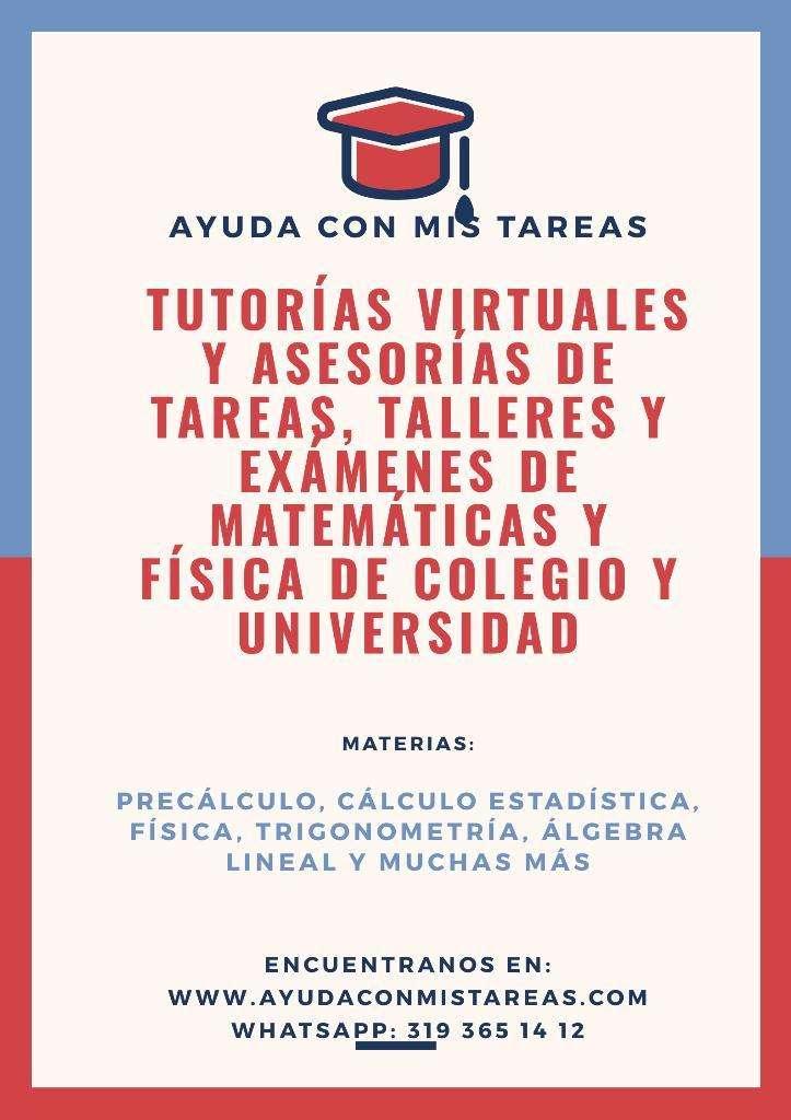 Tutorías Y Tareas de Matemáticas 0