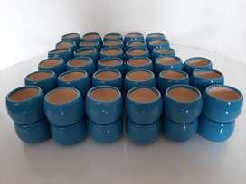 Materas cerámica mediana por 6 unidades