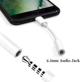 Adaptador iPhone Lightning A Jack 3.5mm, 6 7 8 10 X 11 iPad