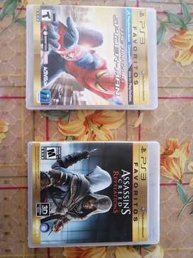 Juegos de play station 3 The amazing spiderman + assassin's creed revelations