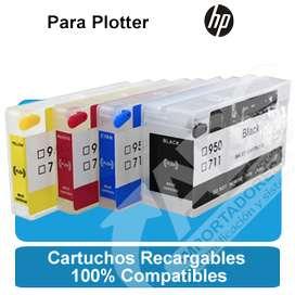 Cartuchos Recargables Autoreset Xxl Hp 711 Plotter T120 T520