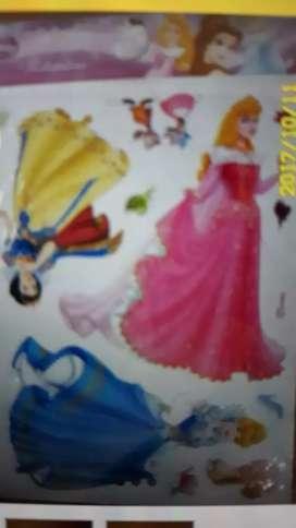 Wall stickers autoadhesivos Disney princesas
