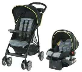 Vendo coche + silla para carro marca Graco