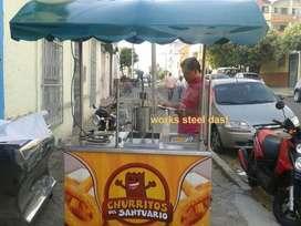 CARRO PARA CHURROS ETC marmita   estufa horno freidor licuadora ductos campana extractor  asador  mesones autoservicio