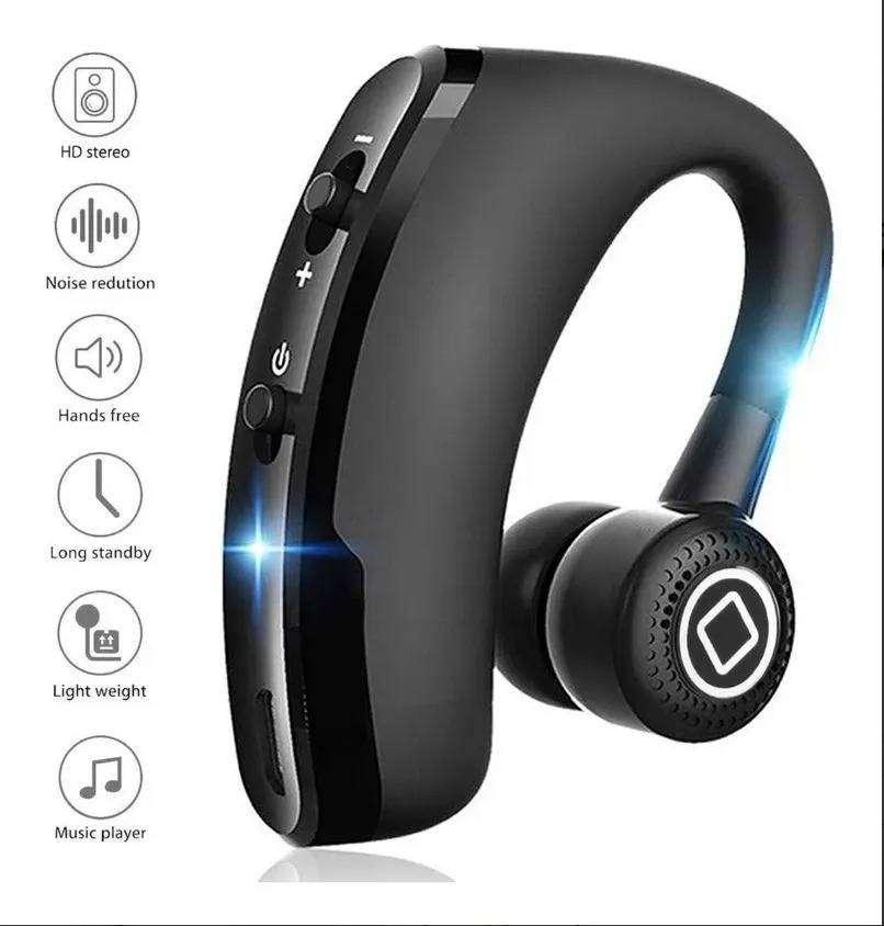 V9 Audífonos Bluetooth 12 horas Manos Libres para Conducir Carro Moto Carga Rápida 2020
