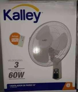 Ventilador kalley de pared 16'' con control