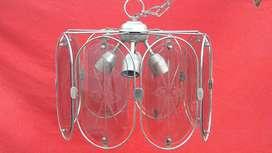 lampara colgante 4 luces antigua