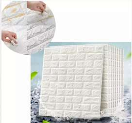 Papel tapiz adhesivo blanco de pared medidas 77cm×10cm