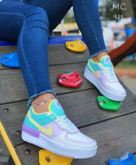 Zapato Tennis Deportivo Nike Force One Para Mujer