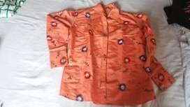 blusa naranja bordada para dama talla M