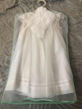 Vestido bautizo talla 18 meses