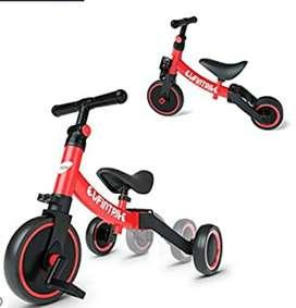 Triciclo rojo 3 en 1 para niño