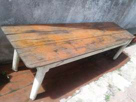 Antigua mesa d campo gran tamaño 70  x 2.70