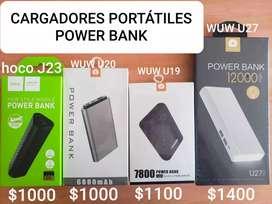 Cargadores PORTÁTILES POWER BANK