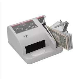 Maquina contadora de billetes digital portátil con probador de billetes falsos