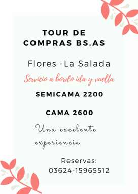 Tour de compras Flores-La Salada