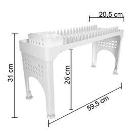 Platero 59.5 cm x20.5cm x32cm puente escurridor