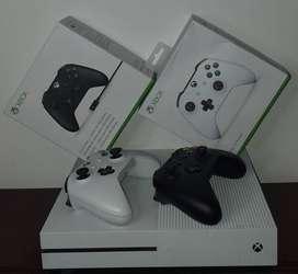 Controles Xbox One S  Blanco y Negro - Tercera Generación - Bluetooth.