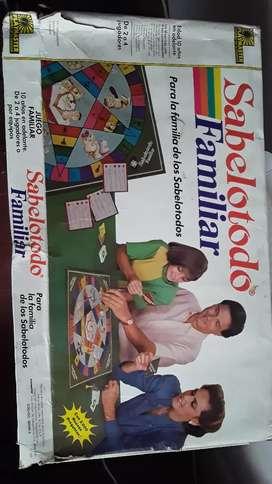 Antiguo juego de Sabelotodo. 1988
