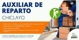AUXILIAR DE REPARTO CHICLAYO