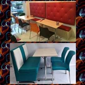 Sillas y mesas para cafetería bar restaurante panadería frutería puff sofás salas vip butacos barra muebles para negocio