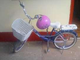 Sé vende bicicleta x ocasión para dama de color rosado seme usado